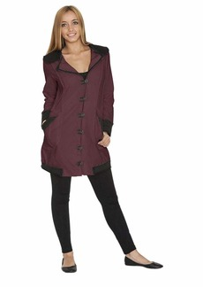 Neon Buddha Women's Lightweight Cotton Jacket Female Casual Trench Coat with Oversized Notched Collar and Toggle Buttons Extra Small summer plum