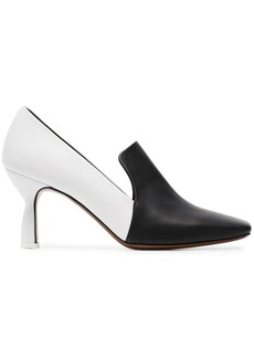 Neous black and white aerid 50 leather pumps