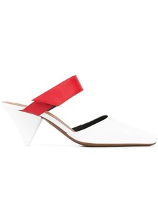 Neous contrasting touch strap mules