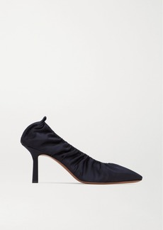 Neous Crater Gathered Satin Pumps