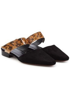 Neous Epi Suede and Printed Leather Slip-Ons