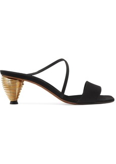 Neous Thallis Leather And Faille Sandals