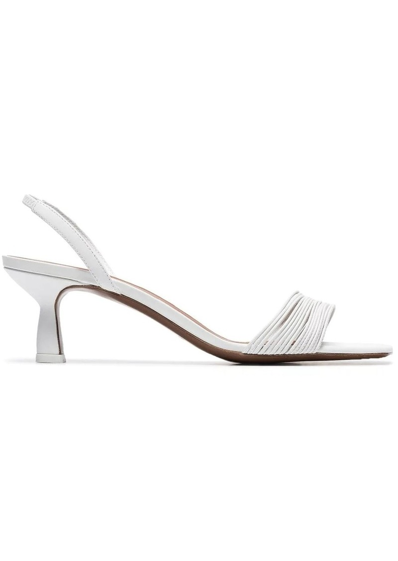 Neous white Rossi 55 leather slingback sandals