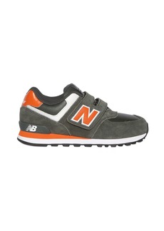 New Balance 574 Faux Leather & Suede Sneakers