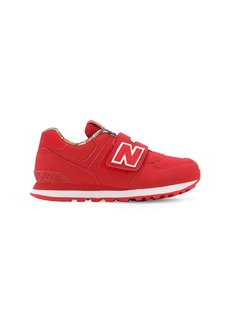 New Balance 574 Faux Leather Strap Sneakers