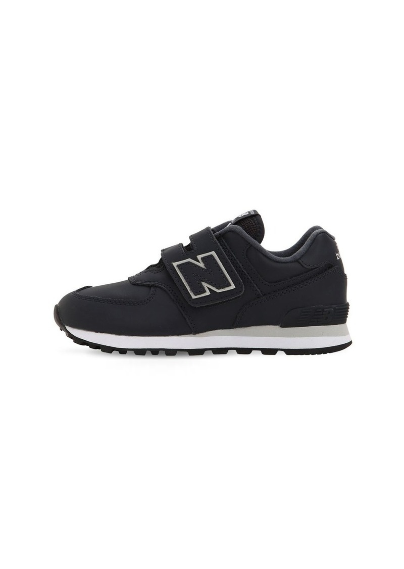 New Balance 574 Leather Strap Sneakers