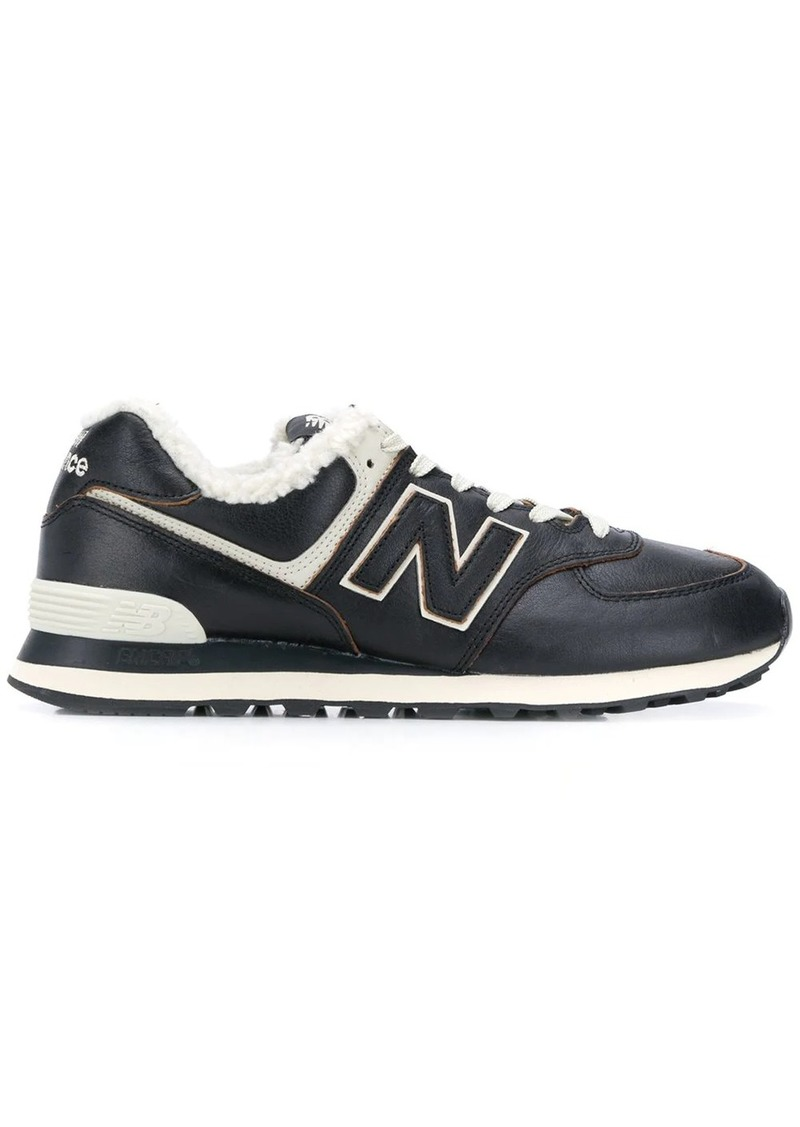 New Balance 574 sherpa-trimmed sneakers