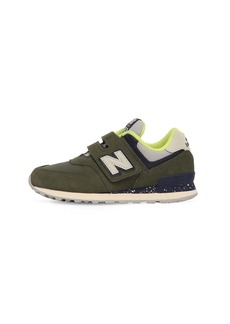 New Balance 574 Suede & Canvas Strap Sneakers