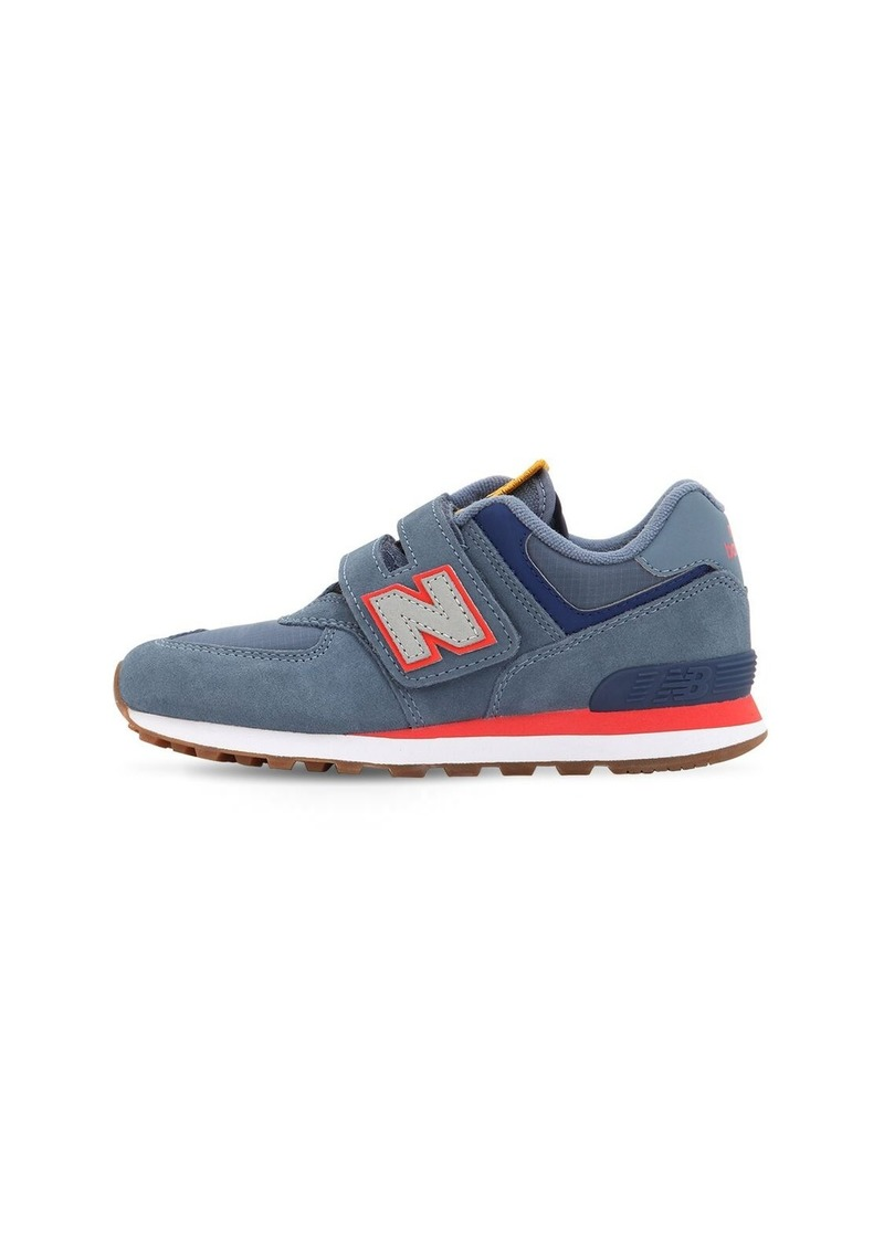 New Balance 574 Suede & Ripstop Strap Sneakers