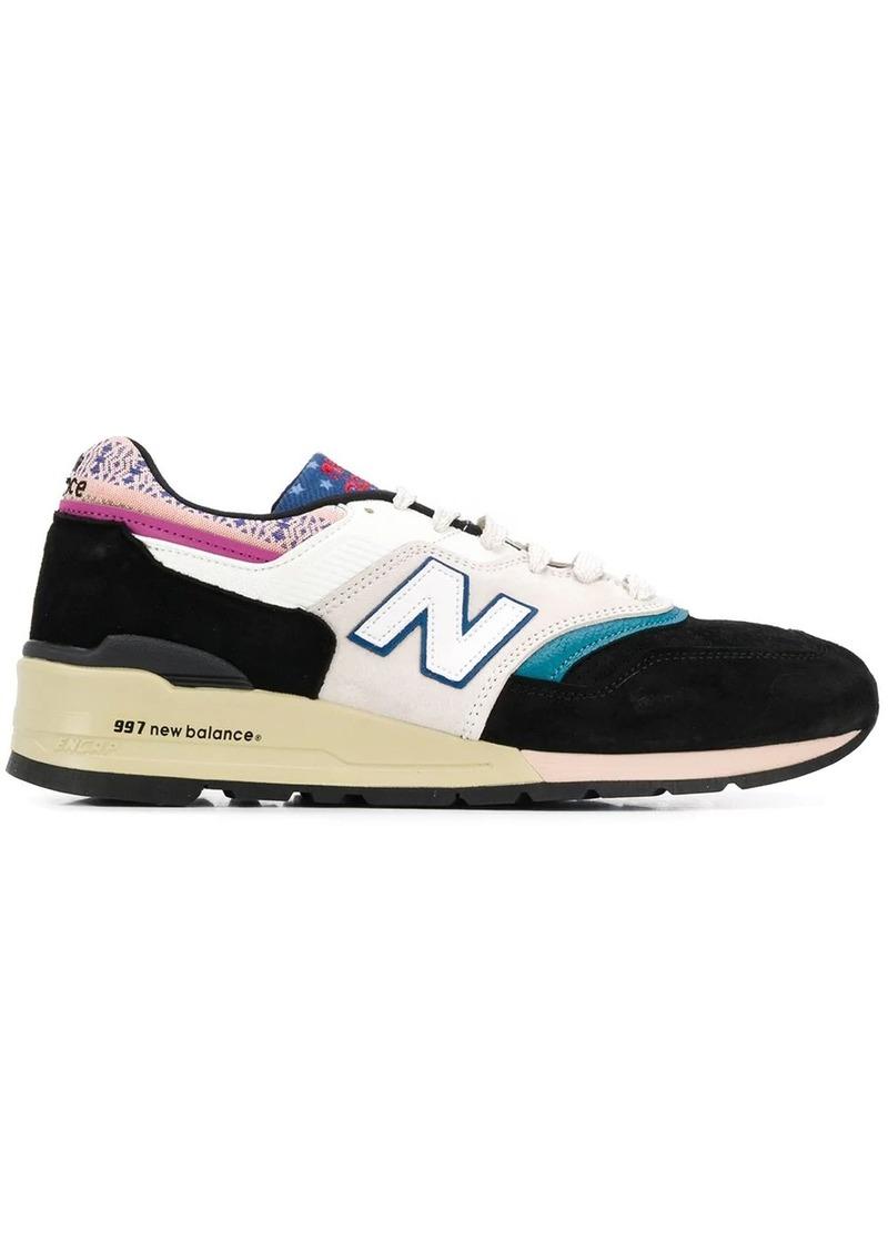 New Balance 977 print mix sneakers