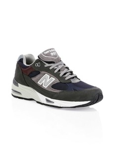 New Balance 991 Suede & Leather Sneakers