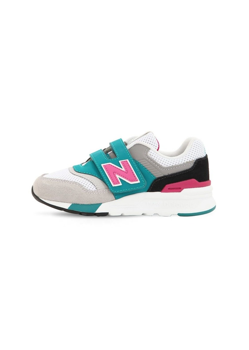 New Balance 997 Mesh & Suede Strap Sneakers
