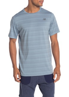 New Balance Anticipate Striped Tech T-Shirt