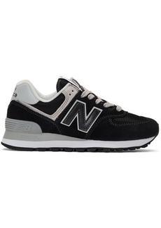 New Balance Black & White 574 Sneakers