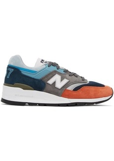 New Balance Blue & Grey Made In The USA 997 Sneakers