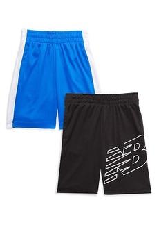New Balance Boy's 2-Pack Logo Shorts