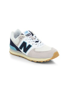 New Balance Boy's 574 Core Plus Mixed Media Leather Sneakers