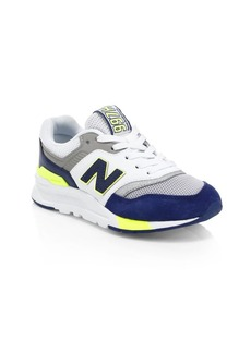New Balance Boy's 997 Mesh Logo Sneakers