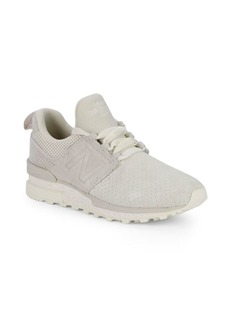 New Balance Classic Logo Suede Sneakers