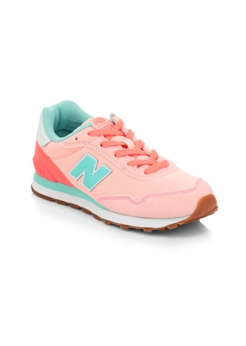 New Balance Girl's 515 Mixed Media Sneakers