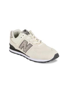 New Balance Girl's 574 Animal-Print Sneakers