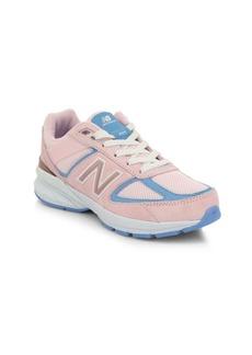 New Balance Girl's Made Us 990v5 Mixed Media Sneakers