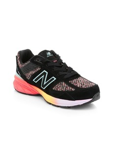 New Balance Girl's Made Us 990V5 Mixed Media Suede Sneakers