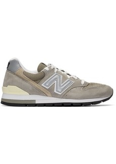 New Balance Grey & Beige Made In US 996 Sneakers