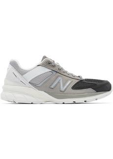 New Balance Grey & Black US Made 990v5 Sneakers