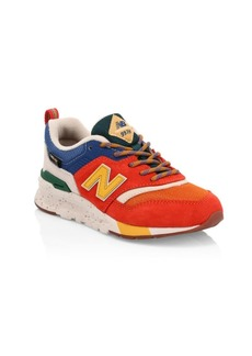 New Balance Kid's 997 Mesh & Suede Runners