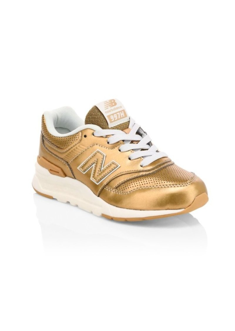 New Balance Kid's 997 Metallic Sneakers