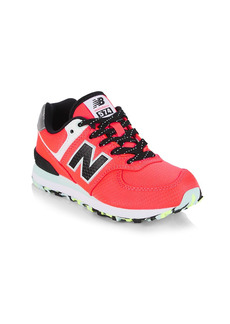 New Balance Little Girl's & Girl's 574 Colorblock Sneakers