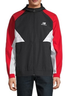 New Balance Logo Colorblock Hooded Jacket