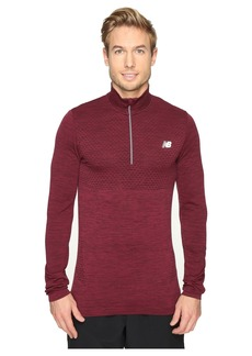 New Balance M4M Seamless Quarter Zip Top