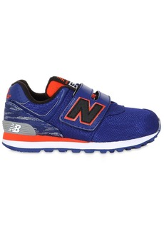 New Balance Mesh & Leather Running Sneakers