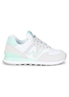New Balance Mix Media Suede Chunky Low-Top Sneakers