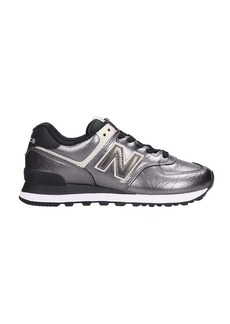 New Balance 574 Sneakers In Silver Leather