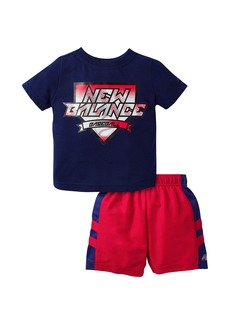 New Balance Baby Boys' T-Shirt and Short Set  24 Months