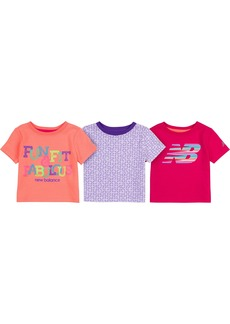 New Balance Baby Girls' 3 Pack Graphic Tees