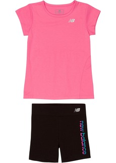 New Balance Baby Girls' Athletic Tee and Bike Short Sets