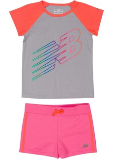 New Balance Baby Girls' Performance Tee and Short Sets