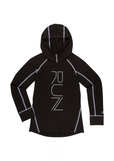 New Balance Girls' Big Athletic Hooded Pullover Top  10/12