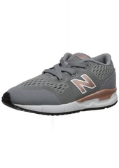 New Balance Boys' 005v1 Hook and Loop Sneaker Grey/red