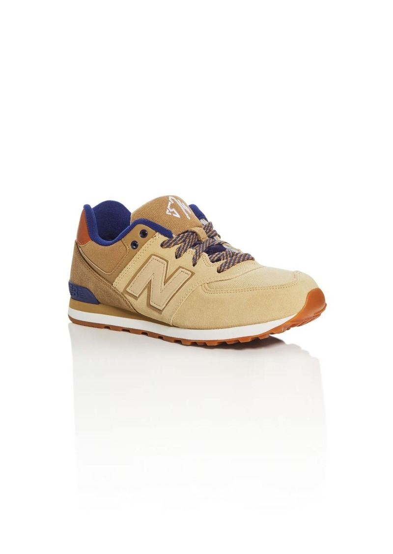 New Balance Boys' 574 Collegiate Lace Up Sneakers - Big Kid