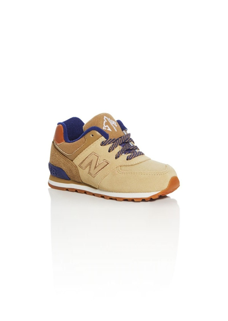 New Balance Boys' 574 Collegiate Lace Up Sneakers - Walker, Toddler