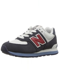 New Balance Boys' 574v1 Essential Sneakers Navy/red