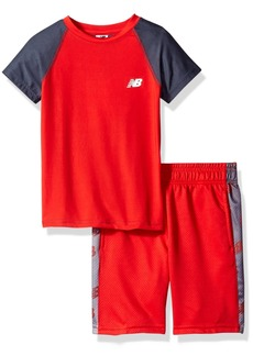 New Balance Little Boys' Performance Tee and Short Set