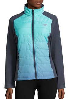 NEW BALANCE Dip Dyed Quilted and Fleece Performance Jacket