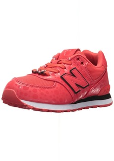 New Balance Girls' 574v1 Disney Sneaker red/White