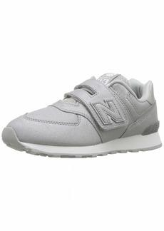 New Balance Girls' 574v1 Hook and Loop Sneaker